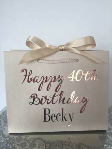 Personalised Aged Birthday Gift Bag Box 18th 21st 30th 40th 50th 60th Any Name