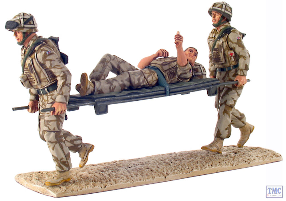 B10027 W.Britain Help for Heroes Modern British Army Stretcher Bearer Set