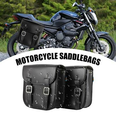 2x PU Leather Saddlebag Tool Bag Fit Kawasaki Vulcan Classic Nomad Drifter 1500