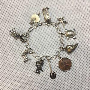 Duck Silver Vintage Charm For Bracelet