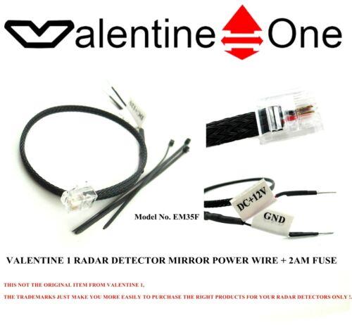 Mirror Wire 2AM Fuse For Uniden Escort S55,X80,Max V1 Valentine Radar Detector