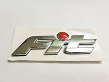 Honda Fit Chrome Red Dot emblem logo badge Sticker decal 01-09 GD1 JDM New
