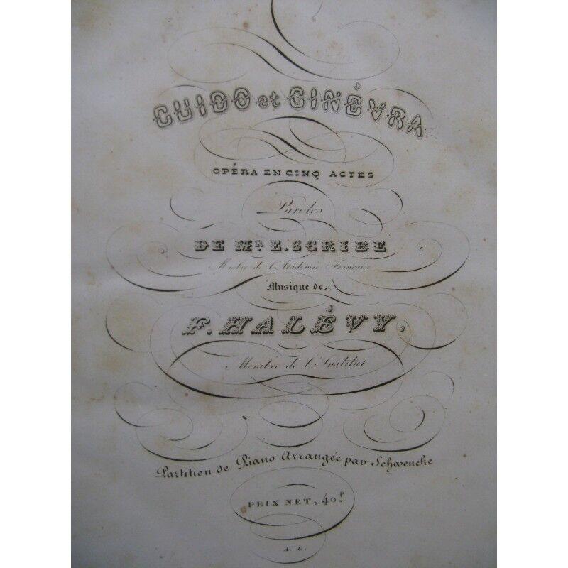 HALÉVY F. Guido und ginevra Opéra Chant Piano 1838 Partitur sheet music score