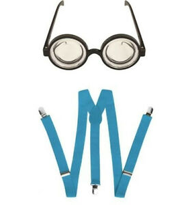 Round-Glasses-Goggles-amp-Blue-Braces-Minions-Fancy-Dress-Accessory-Set-One-Size