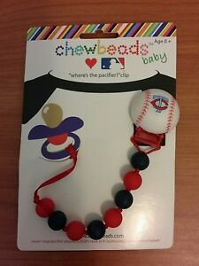 Chewbeads-Baby-Pacifier-Clip-MN-Minnesota-Twins-TC-Baseball-NEW