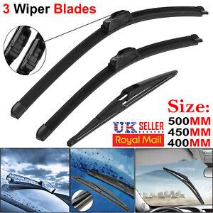 Aero VU Front Flat /& Specific Fit Rear Windscreen Window Wiper Blades Service