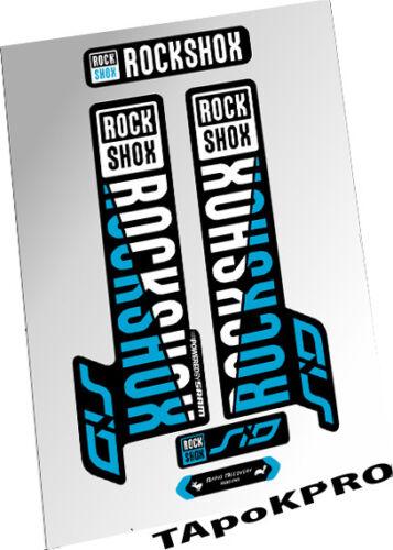 2017 Brand New Custom RockShox SID fork glossy lamination stickers kit decals