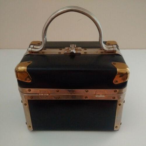 Vintage Black Delill Box Purse