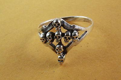 Smart Biker Skull Ring Skull Tattoo Silver Ring 925 Silver 283 Jewelry & Watches