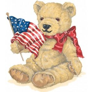 American-Flag-amp-Teddy-Bear-Shirt-Patriotic-Bear-Red-Bow-Small-5X