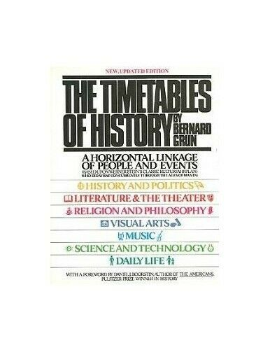 The Timetables of History by Bernard Grun Book The Fast Free Shipping