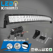 32inch 420W Curved LED Light Bar Combo+Free wiring kit Offroad Truck 4WD ATV SUV
