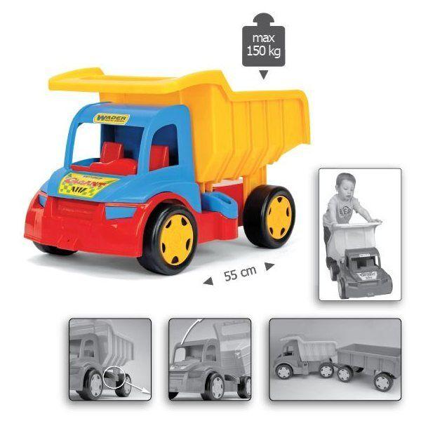 Gigant Volquete Camión 55 Cm (21,50 pulgadas) de largo grande sólido durable gran coche de juguete NUEVO