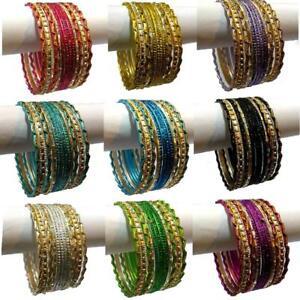 12-Indian-Bracelets-Set-6cm-Jewellery-Bracelet-Bollywood-Choorian-Wedding-Sari