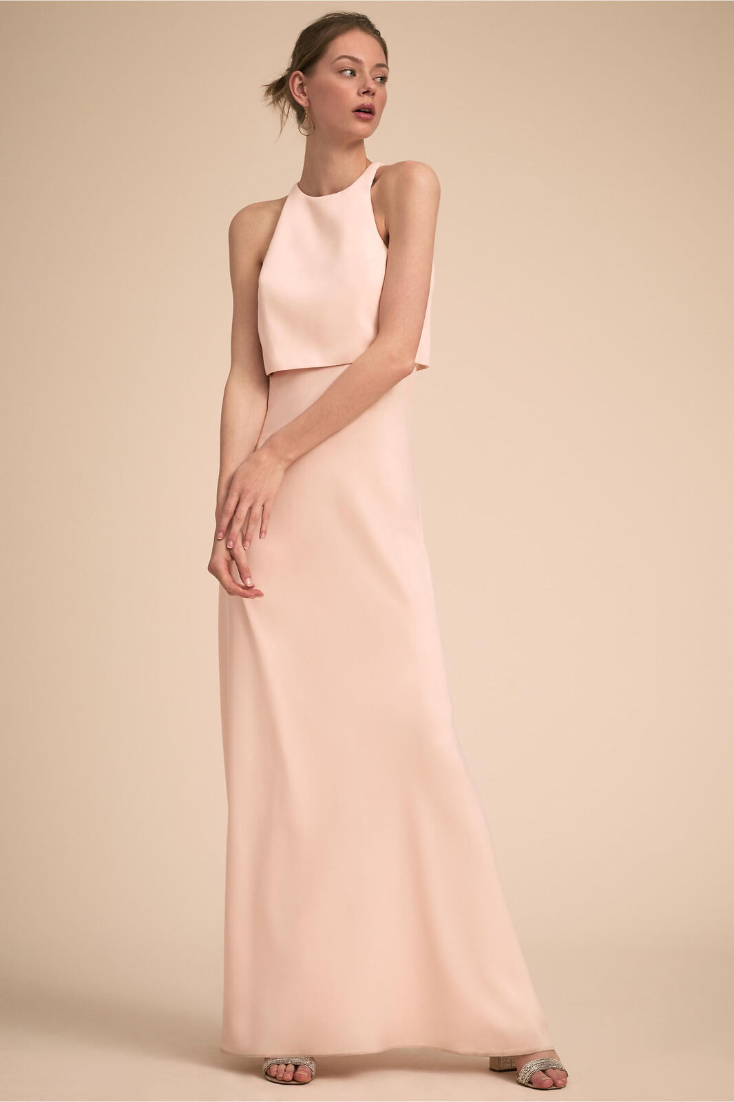 New Jill Jill Stuart Iva Crepe Maxi dress size 10 MSRP   298 BHLDN