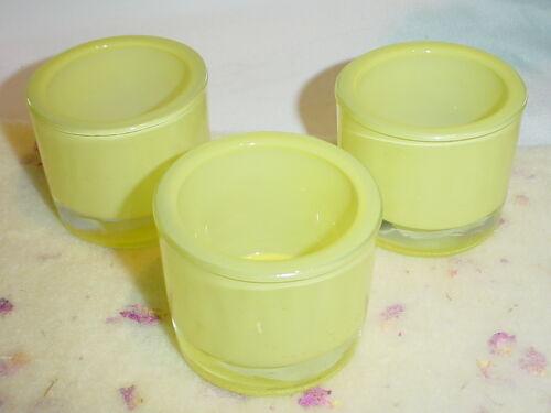 Teelichthalter Ø = 6,5cm*Glas*gelb*Frühling*Windlicht*Sommer*Deko*Teelicht-Glas