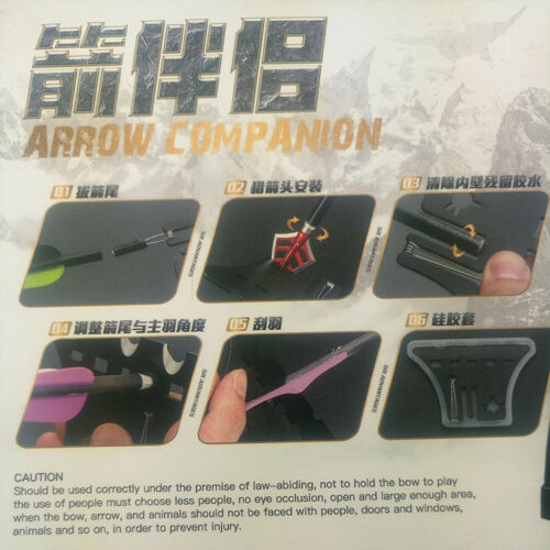 Archery Arrows Tool Multifunction Shaft Fletching Glue Remover Nock Puller Kit