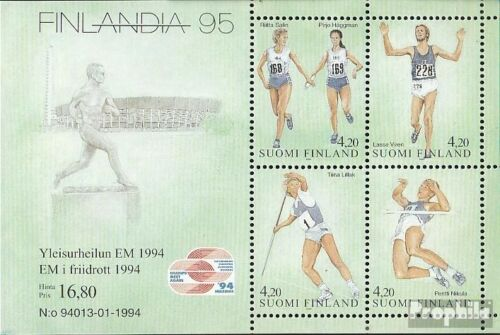 Finland block12 fine used cancelled 1994 Athletics