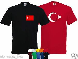 3b53f9f4 Image is loading TURKEY-T-SHIRT-Turkiye-Cumhuriyeti-NATIONAL-TSHIRT-CUSTOM-