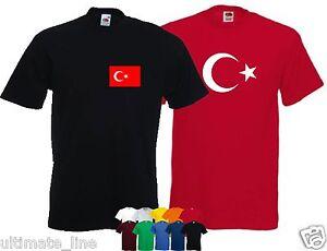 TURKEY-T-SHIRT-Turkiye-Cumhuriyeti-NATIONAL-TSHIRT-CUSTOM-COLOUR-NAME-OPTION