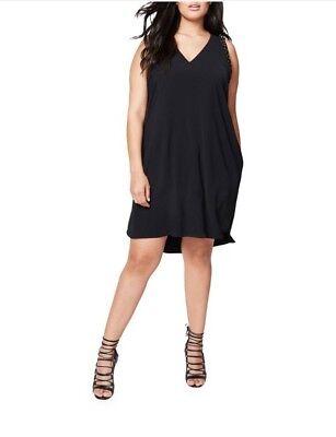 RACHEL Rachel Roy Women/'s Plus Size Studded High-Low Dress 3X, Black
