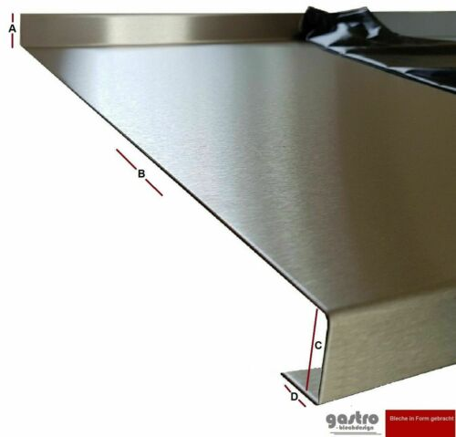 Stainless Steel Kitchen Worktop 1,9 cm Cover Plate k240 0,8 mm Stainless Steel Table CNS