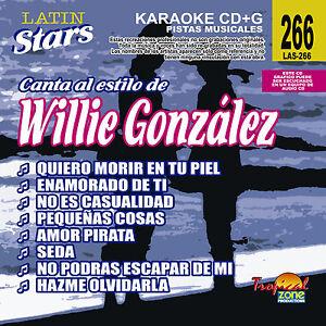 Details about Karaoke Latin Stars 266 Willie Gonzalez Vol 1