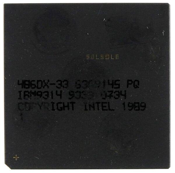 Geleerd Vintage Cpu Ibm 486dx-33 [6901]