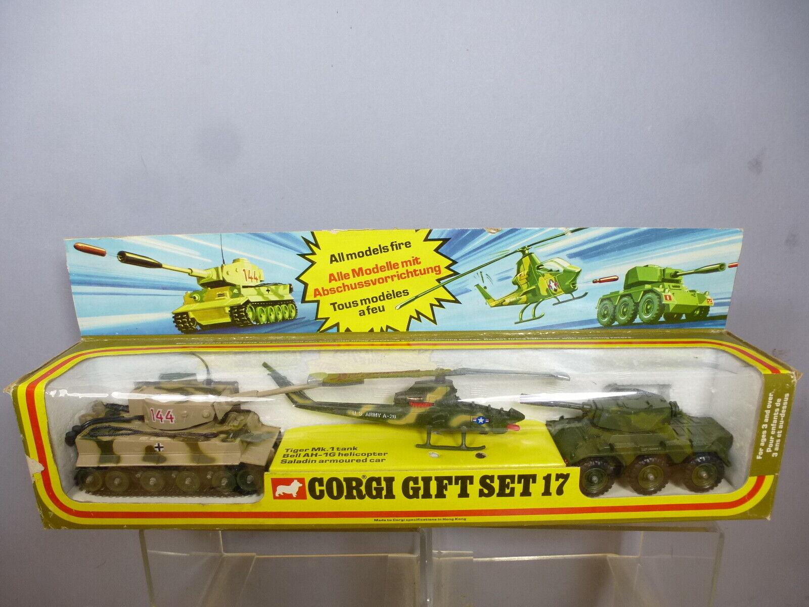 Vintage CORGI modèle No.GS.17  3 pièces armée Set  RARE  VN En parfait état, dans sa boîte  design simple et généreux