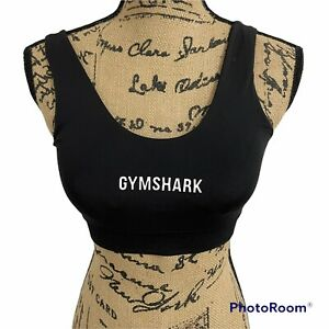 New Gymshark Breeze Lightweight Seamless Sports Bra With Pads Black Size Small