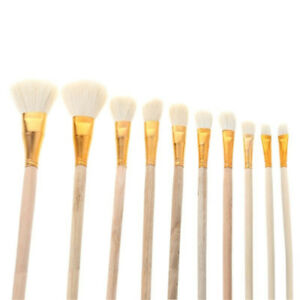 Wool Bristle Artist Acrylic Paint Brushes Oil Painting Watercolor Painting