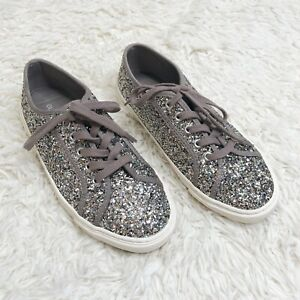 Old Navy Silver Glitter Sneaker Tennis
