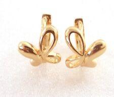 fashion1uk 18K Gold Plated Girls Tiny Hoop Butterfly Flower Earrings