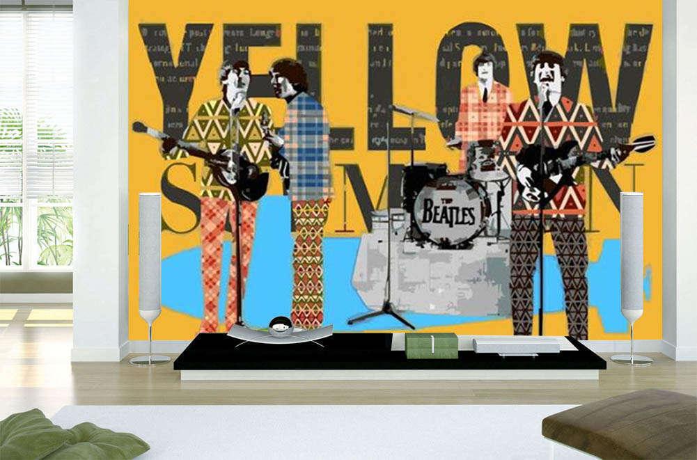 The Gelb Guitar 3D Full Wall Mural Photo Wallpaper Printing Home Kids Decor