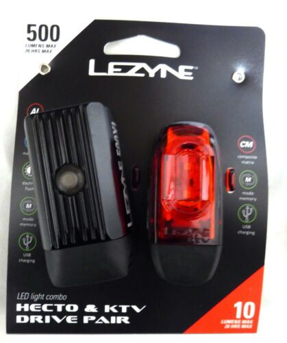 Lezyne Hecto 500XL and KTV Drive Pair Front//Rear