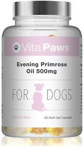 Evening-Primrose-Oil-500mg-For-Dogs-By-VitaPaws-90-Soft-Gel-Capsules