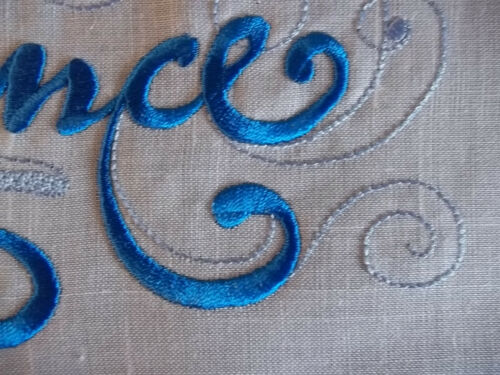"Embroidered Quilt Block Panel /""Prince/"" Pure Irish Linen Fabric"