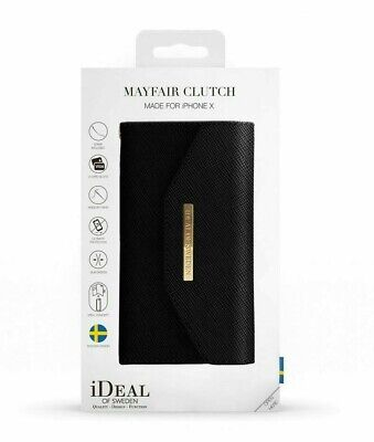 Ideal Of Sweden Mayfair Clutch Magnetic Wallet In Black Iphone X/xs Rrp 39.99£