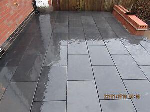 Image Is Loading Slate Paving Slabs Garden Patio Floor Tiles Nero