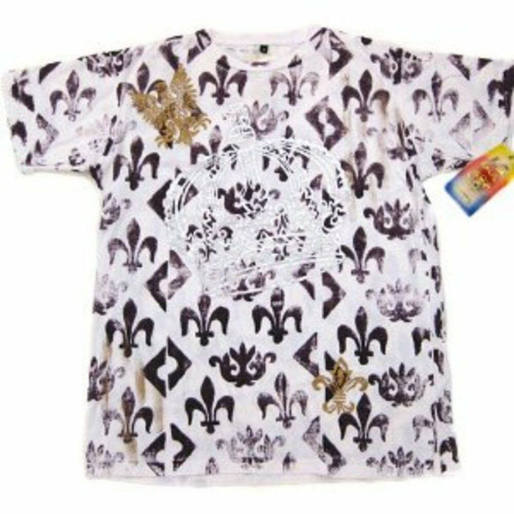 Fleur de Lyes White T Shirt by LA AIR LINE