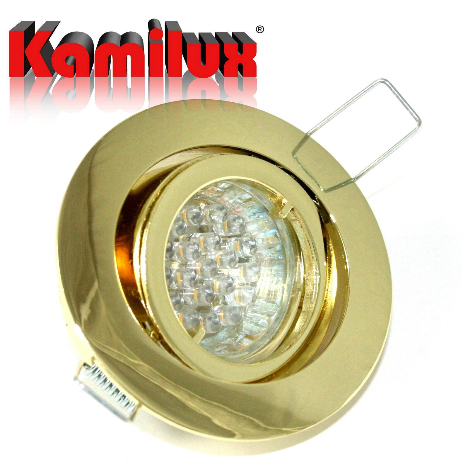 1,5 Watt LED Einbauleuchte Bajo 230V inkl 20er LED Leuchtmittel Downlights GU10