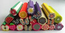 10 big gros tiges batons cane fimo Bijoux Ongles polymère 10 x 50 + lame fruits
