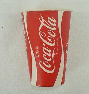 LOT OF 6 COCA COLA PAPER CUPS