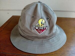 Image is loading Looney-Tunes-Tweety-Bird-Bucket-Hat-Small-Brown- 5748a6b4719