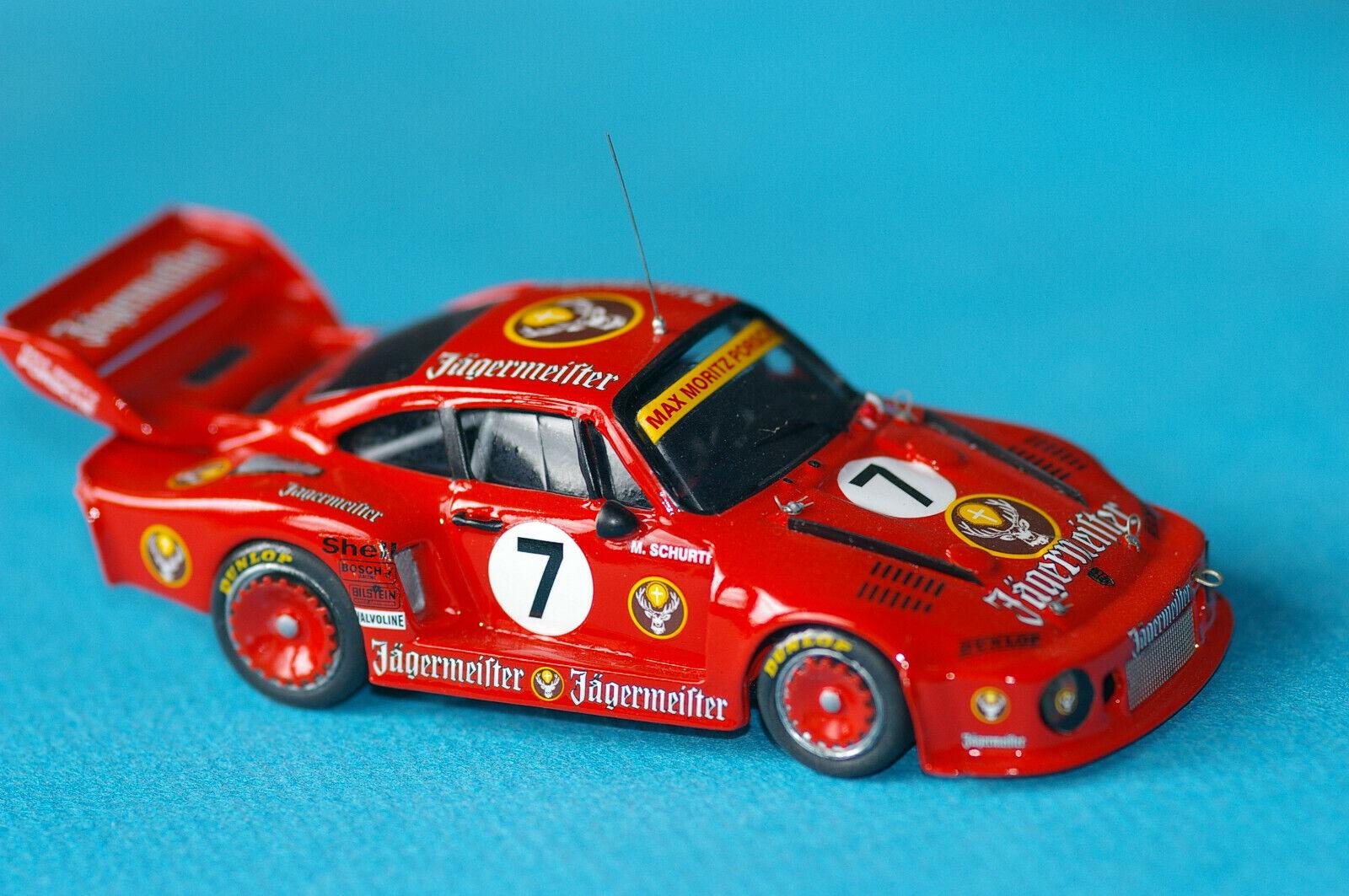 Porsche 935 Jagermeister #7 Brands Hatch 77 base MRE  hand built  1/43°