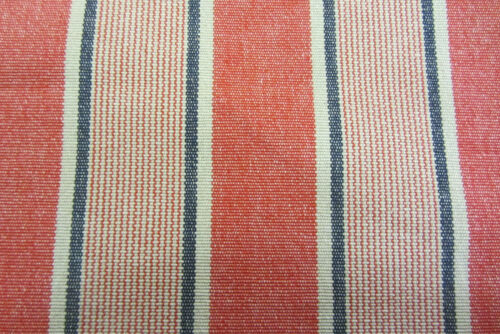 Barn Stripe French Cotton  Curtain//Craft//Upholstery Fabric Red//Blue