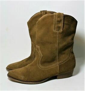 9e12a0b3b35 MIA SUEDE WESTERN BOOTS TAN PULL ON BOOTIES 8.5   eBay