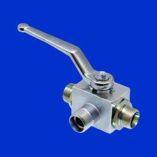 DN10 Absperrhahn 12L Hydraulik 3 Wege Kugelhahn Hydraulikhahn M18x1,5,