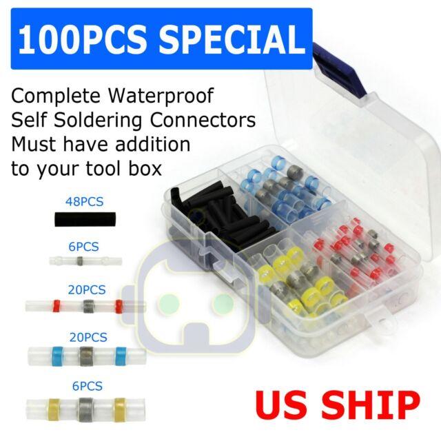 1 Set Heat Shrink Solder Sleeve Connection Electrical Wires Terminals Butt Crimp