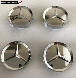 4-PCS-63mm-Mercedes-Benz-Chrome-Wheel-Hub-Center-Caps